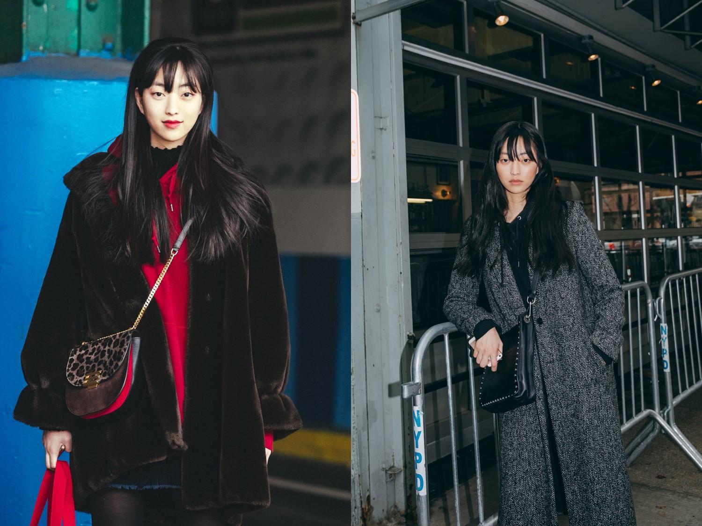 뉴욕 스트리트에서 포착된 모델 권지야의 리얼웨이 룩!