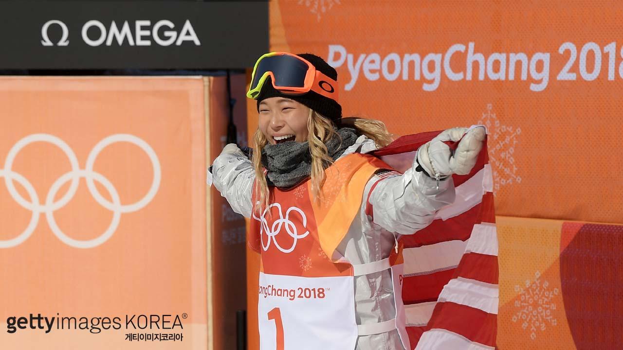 평창올림픽 닷새째 '클로이 김' 금빛 하늘 날다