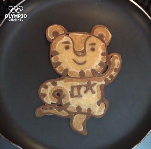 올림픽 채널이 공개한 '수호랑 팬케이크'