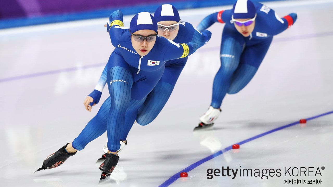 김보름·박지우·노선영 1년 전에는 팀 추월 부문 '은메달'