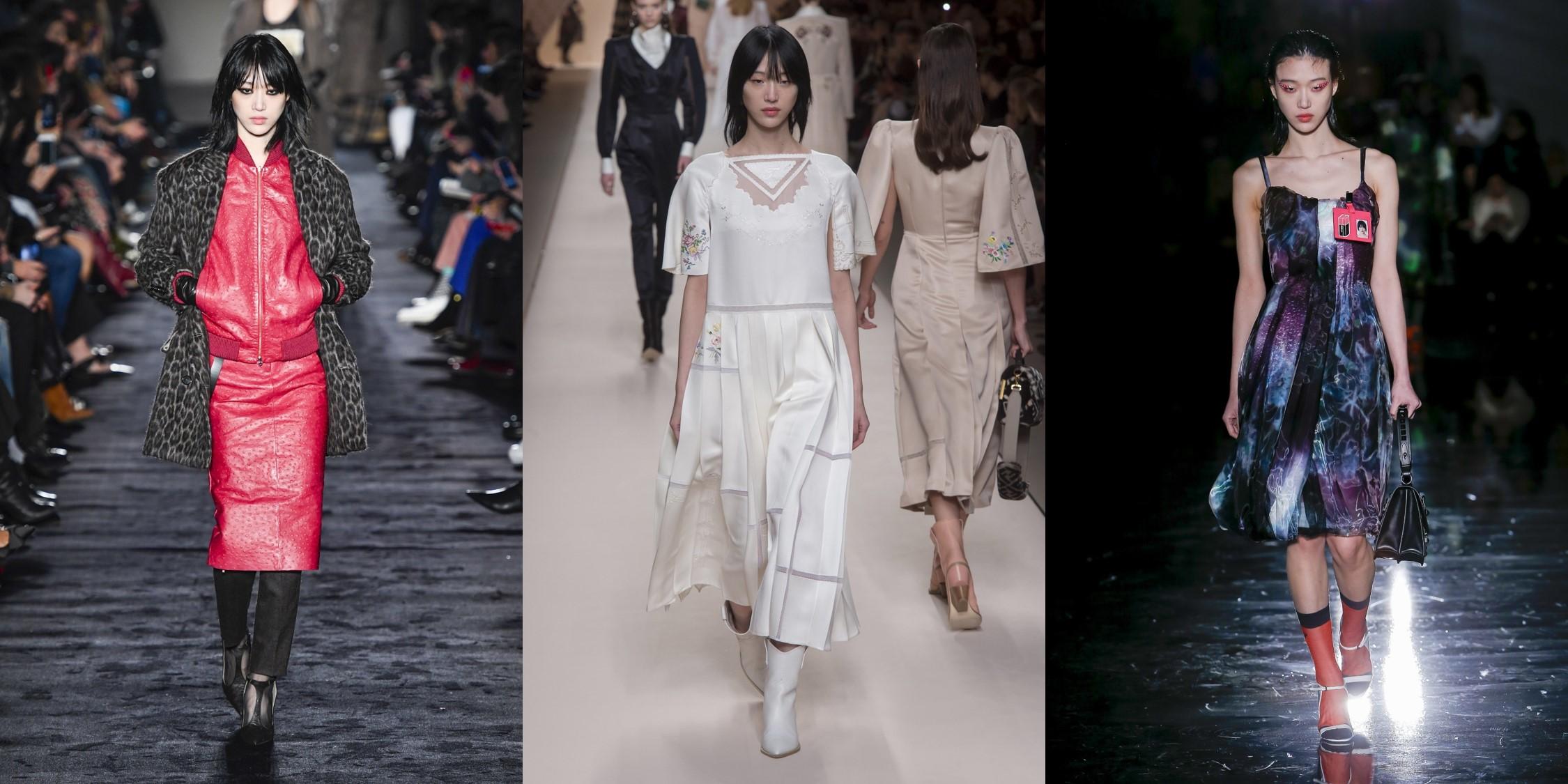 YG 케이플러스 여자 모델들의 밀란 패션위크 런웨이 하이라이트!