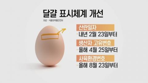 내년부터 달걀 껍질에 알 낳은 날짜도 표시