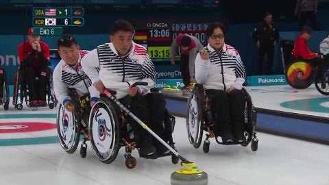 휠체어 컬링, 미국·러시아 연파...2연승으로 대회 시작