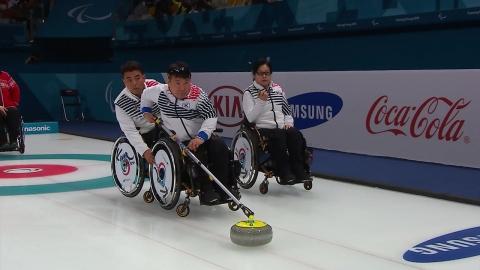 휠체어 컬링, 슬로바키아 제압...3전 전승