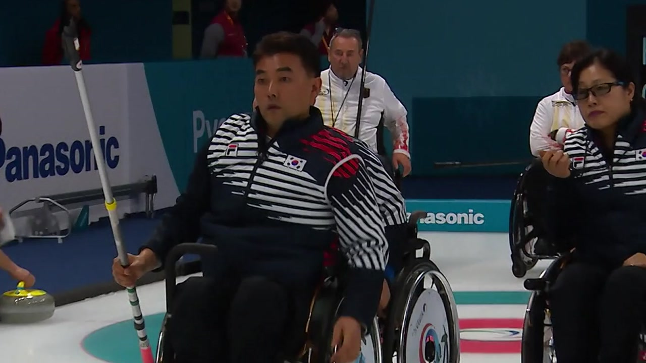 '오벤저스' 휠체어컬링, 독일에 패하며 연승 마감