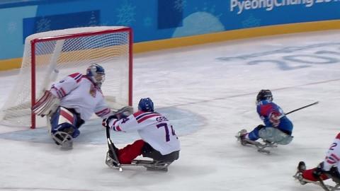 한국 썰매하키, 미국에 져 조 2위...캐나다와 4강