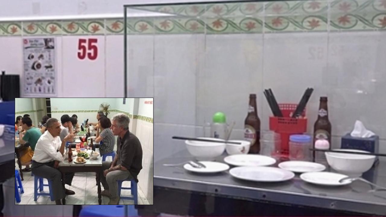 베트남 식당, 오바마 전 美대통령 방문한 자리 '유리 보존'