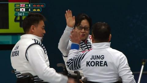 여자컬링 이어 휠체어컬링도 신바람...예선 1위로 4강 진출