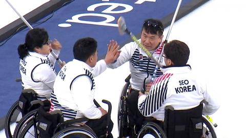 휠체어컬링, 예선 1위로 4강...오늘 노르웨이와 준결승