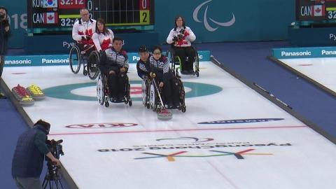 휠체어컬링, 캐나다에 패하며 4위로 대회 마감