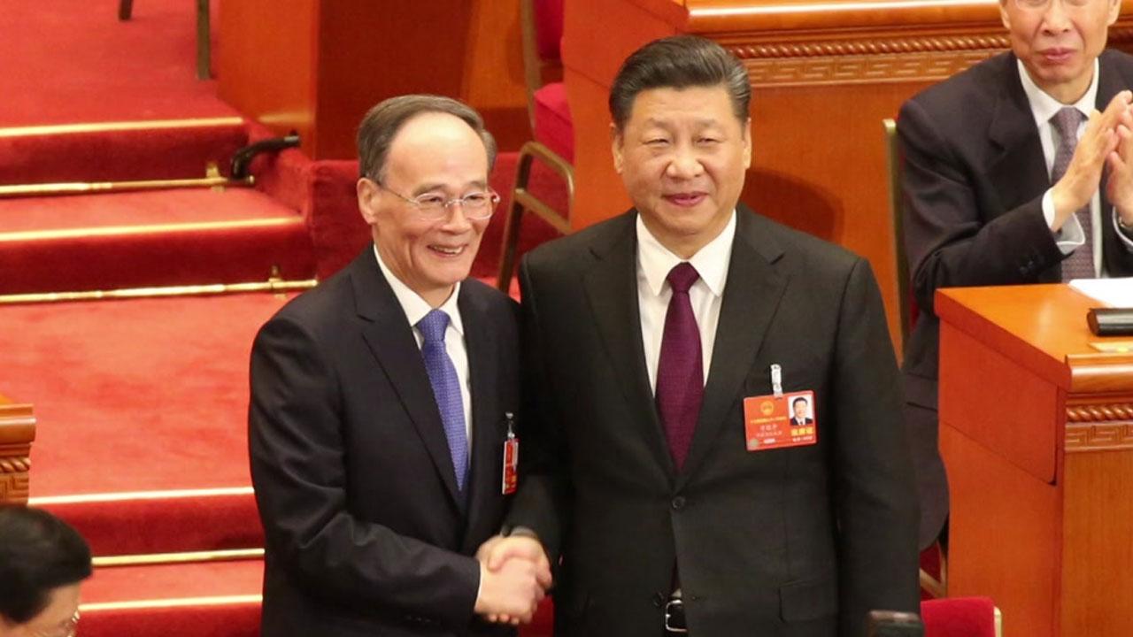 '시진핑 오른팔' 왕치산 복귀...국가 부주석에 선출