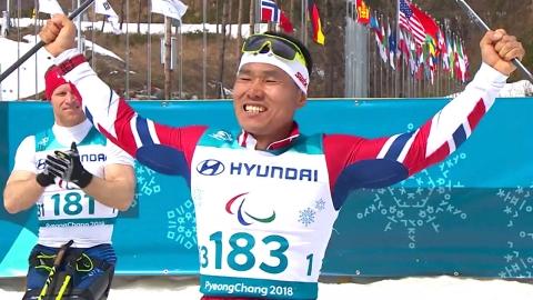 신의현, 동계패럴림픽 사상 첫 금메달