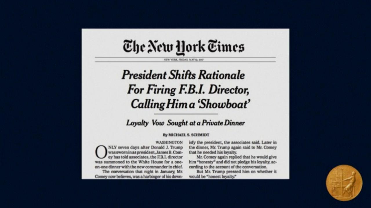 '트럼프-러시아 스캔들' 파헤친 NYT·WP, 퓰리처상 수상