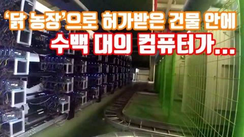 [자막뉴스] '닭 농장'으로 허가받은 건물 안에 수백 대의 컴퓨터가...