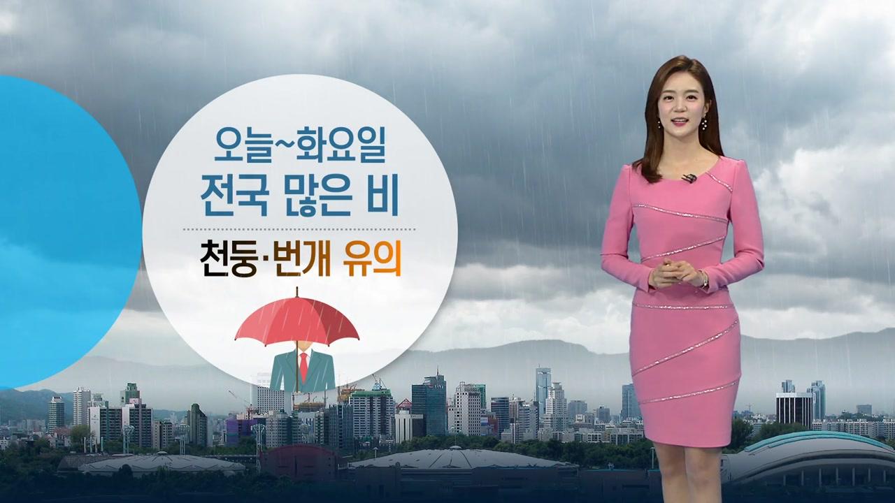 [날씨] 오늘부터 화요일까지 전국 비...천둥·번개 유의