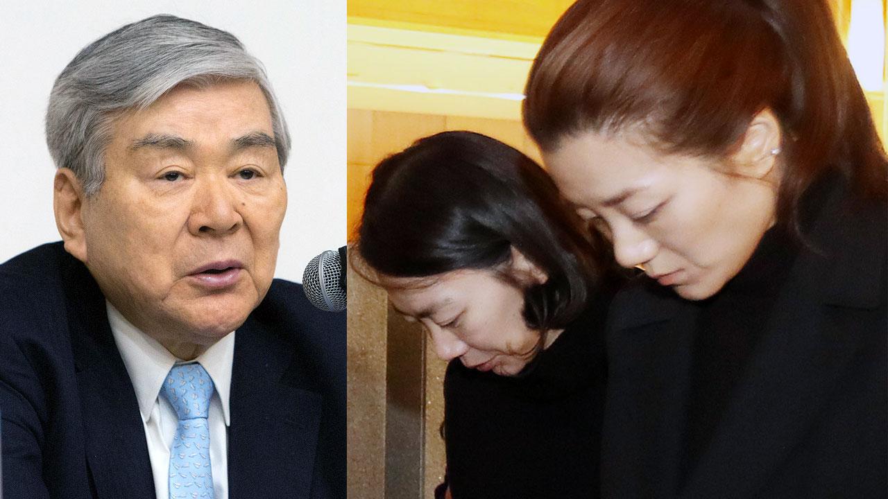 """[속보] 조양호 회장 """"조현민·조현아 그룹 내 모든 직책서 즉시 사퇴"""""""