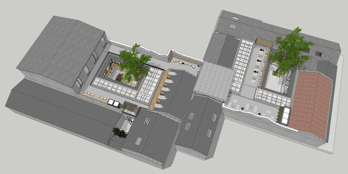 〔안정원의 건축 칼럼〕 커다란 나무 그늘에 2개의 중정을 입체적으로 재구성한 숙박공간 3