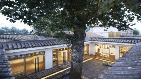 〔안정원의 건축 칼럼〕 커다란 나무 그늘에 2개의 중정을 입체적으로 재구성한 숙박공간 4