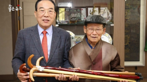 노인들의 지팡이가 되어준 '지팡이 할아버지'