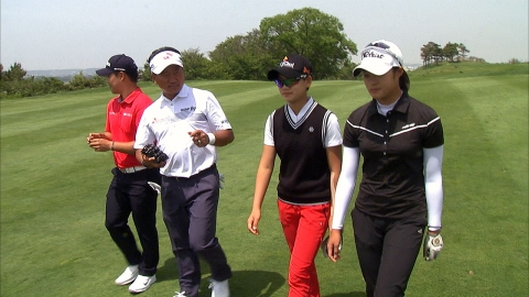 '골프 전설' 최경주 박세리, 유망주들과 함께한 행복 라운드