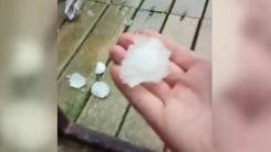 [영상] 지름 3.5cm...골프공 크기 만한 우박