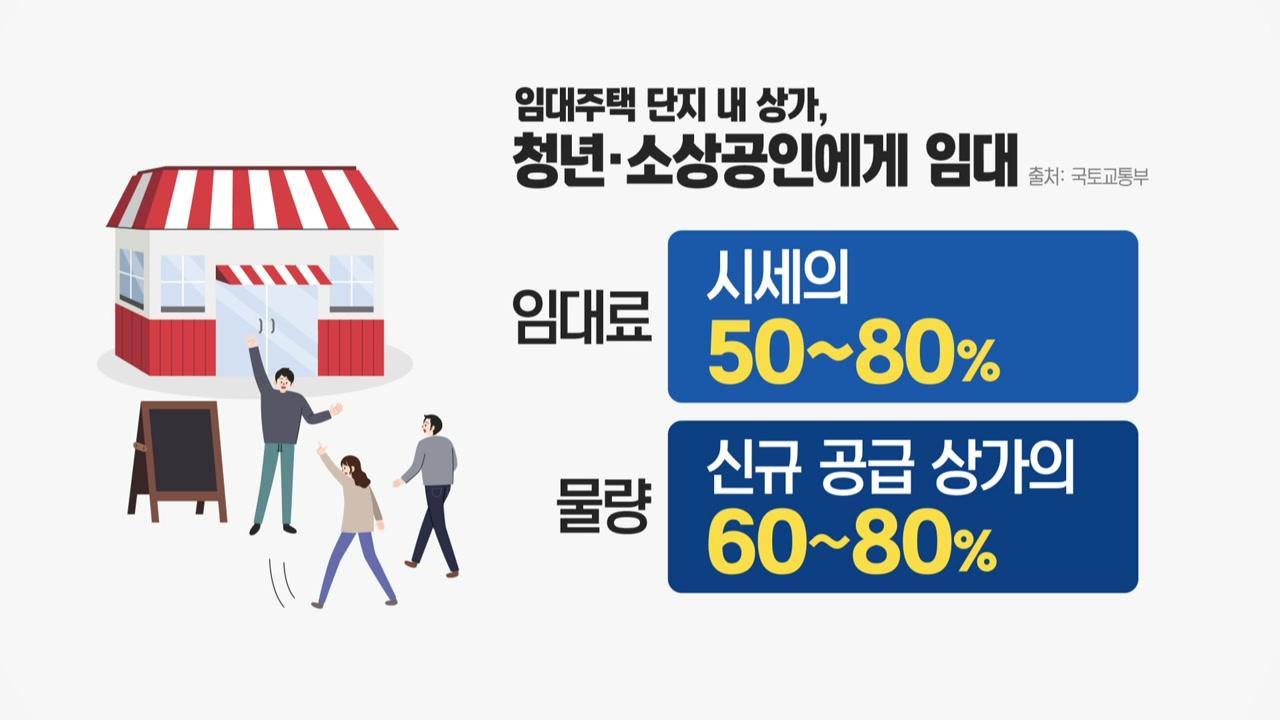 새 임대주택 상가, 청년에 시세 50%로 임대