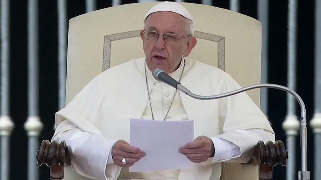 """교황, 가자지구 유혈진압 개탄...""""폭력은 폭력을 낳는다"""""""
