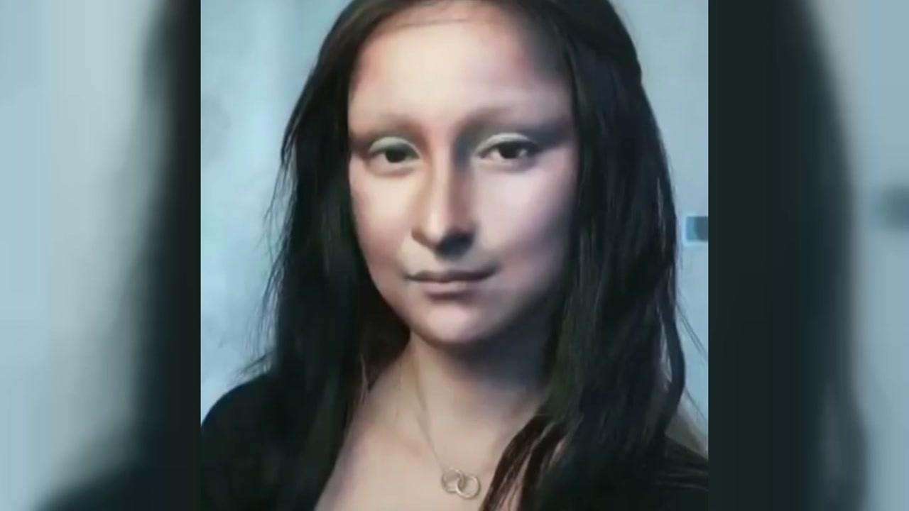 [영상] '같은 사람 맞아?'...'모나리자'로 변신한 여성