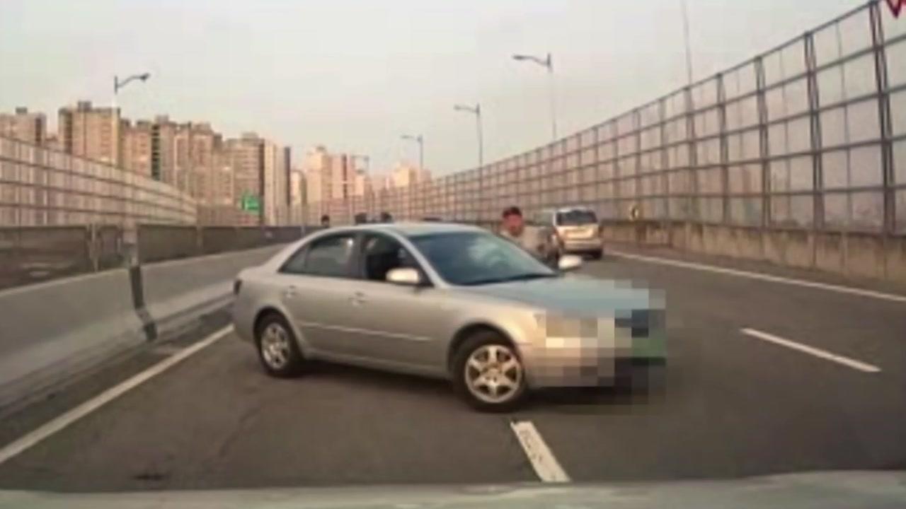 [좋은뉴스] 아찔 역주행 만취 차량 막은 용감한 시민