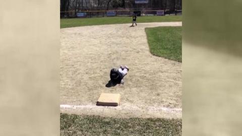 '배운대로 안되네'...꼬마 야구선수의 '굴욕'
