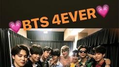 테일러 스위프트, 방탄소년단과 인증샷 'BTS 4EVER'