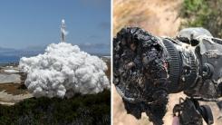 로켓 발사 장면 찍다가 녹아버린 나사 사진가의 카메라