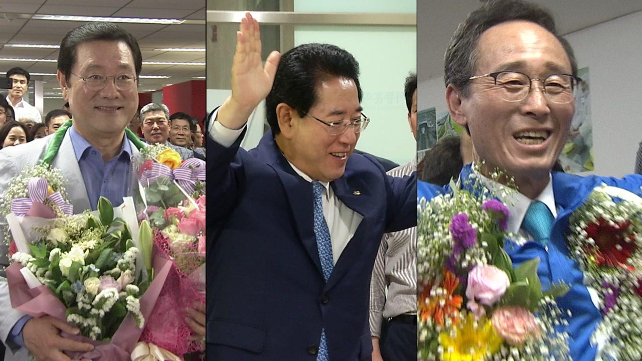 호남 광역단체장 압도적 석권...'힘 있는 여당 후보로 지역 발전'