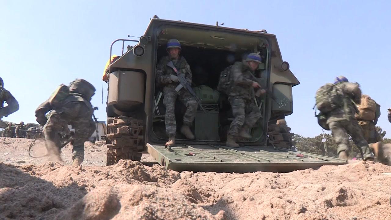 """[속보] AFP """"미 관리, 한반도 주요 군사훈련 무기 연기"""""""