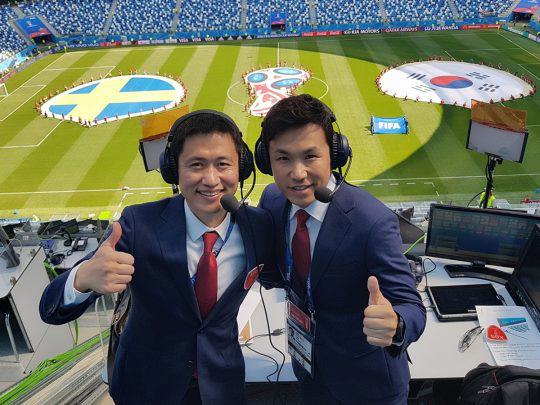 이영표X이광용, 월드컵 최강 콤비...스웨덴전 KBS 17% 1위