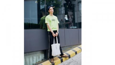 정효준, 스트리트에서도 남다른 비주얼 '뿜뿜'