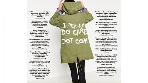 멜라니아 '재킷 논란' 지속…패러디 확산