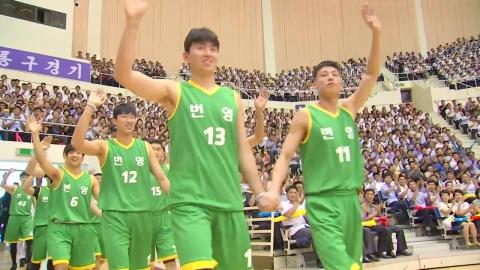 코트 위 하나 된 남북 농구...김정은 불참
