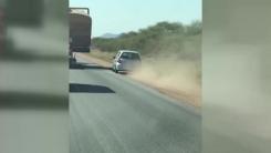 [지구촌생생영상] 무리한 추월 시도...봉변 당한 운전자