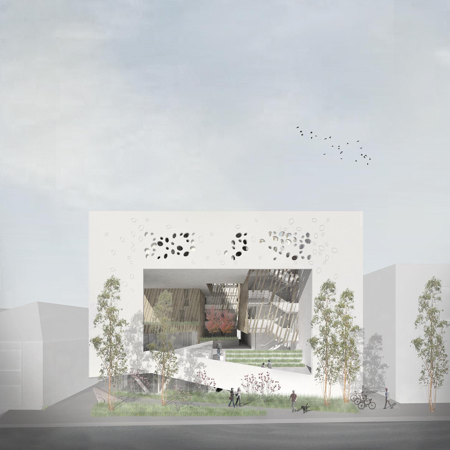 〔안정원의 건축 칼럼〕 개방적인 중정형 공간을 통해 커뮤니티 중심의 상호 작용형 공간 2