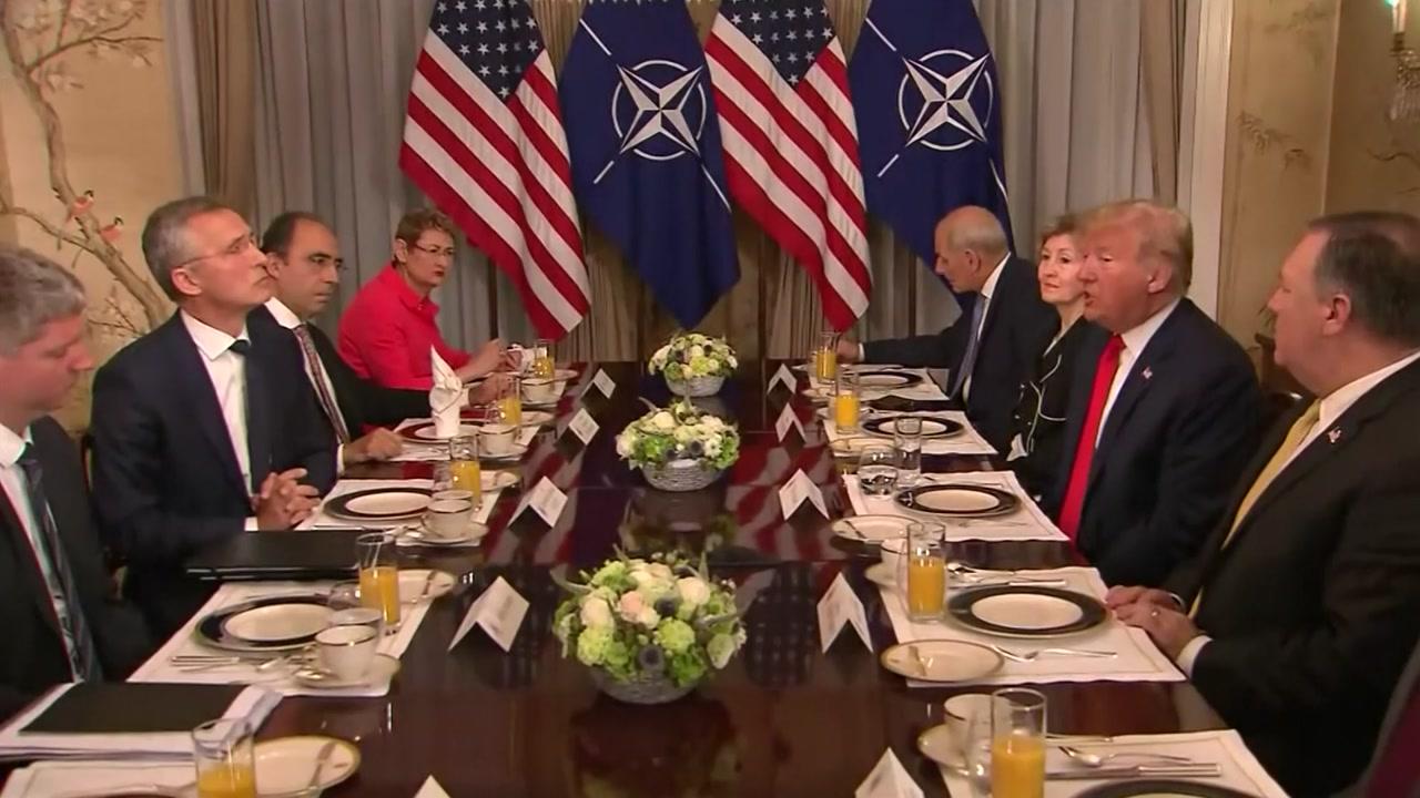 美·유럽 갈등 속 나토 정상회의...방위비 공방전