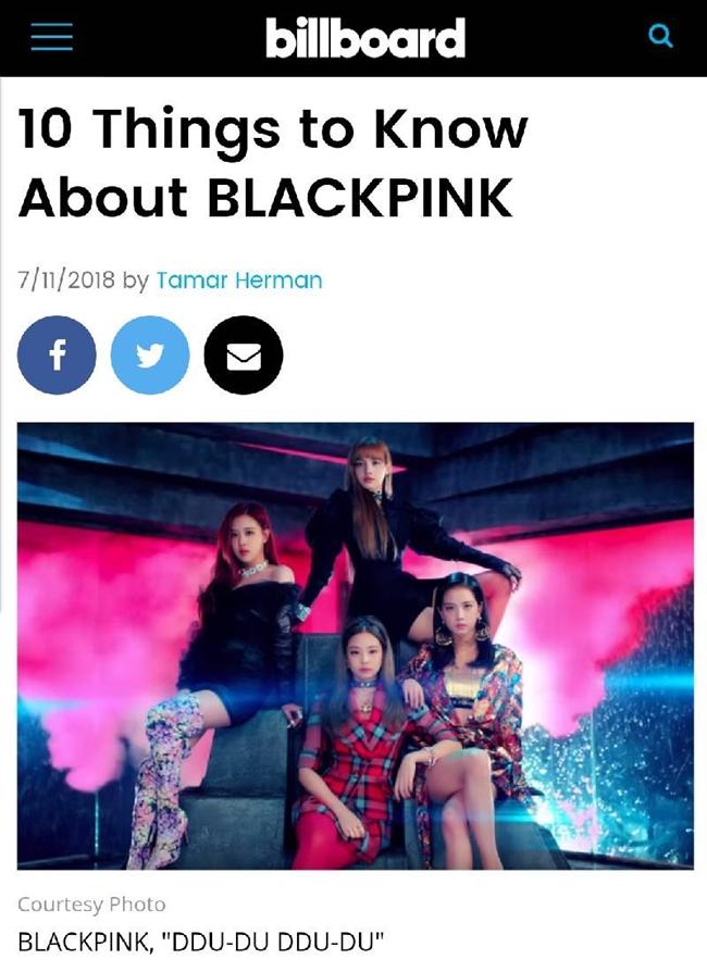 """美빌보드 """"블랙핑크, 이 세대 가장 영향력 있는 그룹"""" 극찬"""