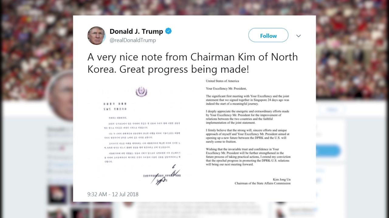 [취재N팩트] 트럼프가 공개한 김정은 친서... 숨은 내용과 공개 의도는?