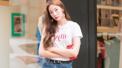 '핫'한 모델 안예원, '흰 티에 청바지' 이렇게 입어라!