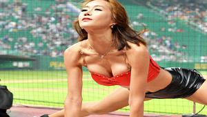 SK 치어리더의 '아찔한 퍼포먼스'