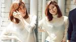 김하늘, 광고 촬영장서 햇살 미소…우아+화사