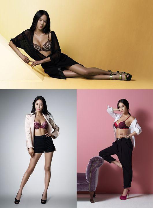 전혜빈, 속옷만 입고…풍만한 가슴 라인 '섹시'_이미지