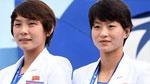 입촌식에 참석한 북한 선수단,'환한 미소'
