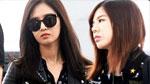 '8인조' 소녀시대, 취재진 따돌리며 몰래 귀국
