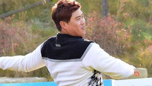 류현진,'골프공으로 홈런 쳤어요'